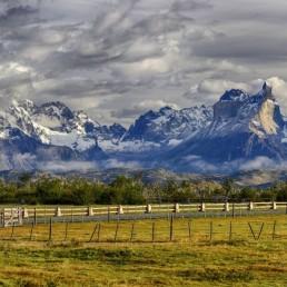 Cordillera del Paine in morning light